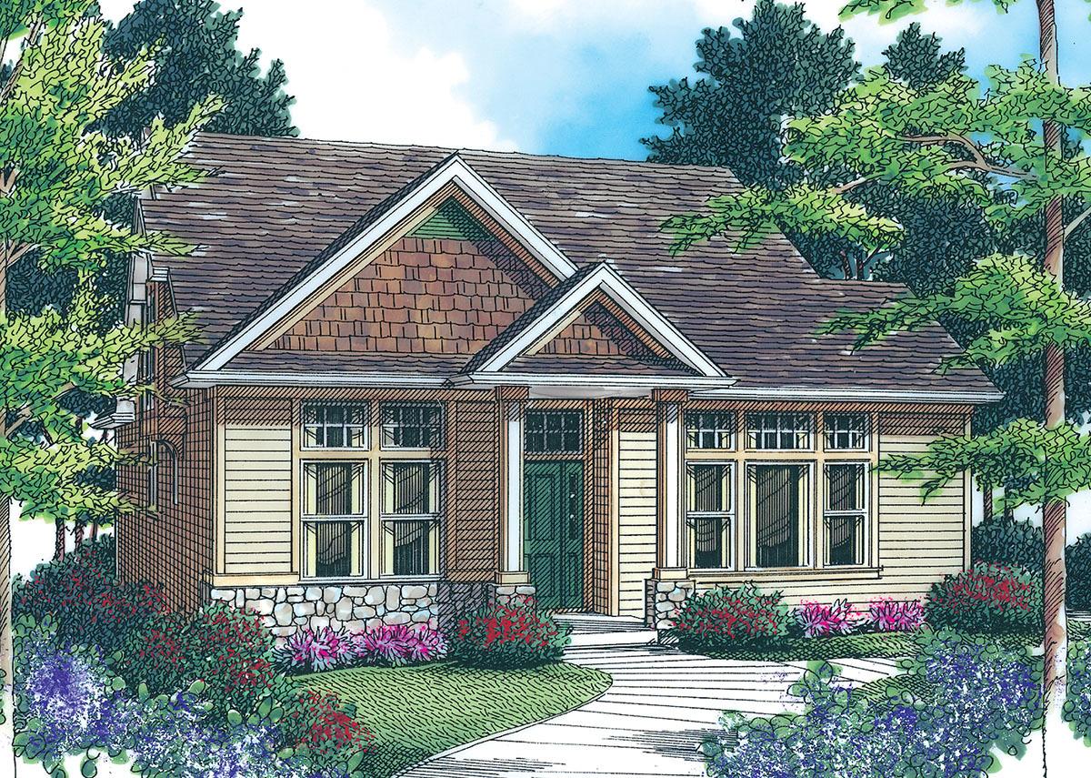 Cozy home plan 69184am 1st floor master suite cad for Cozy cottage plans