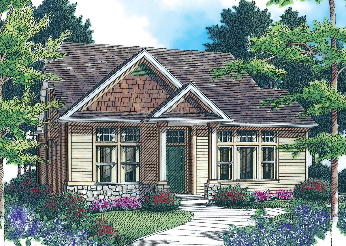 Cozy home plan 69184am 1st floor master suite cad for Cosy house plans