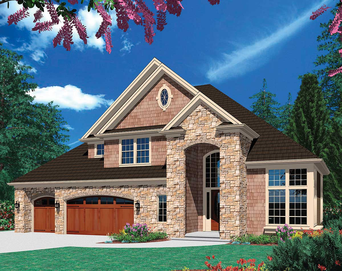 Airy two story foyer 69202am architectural designs for House plans with foyer