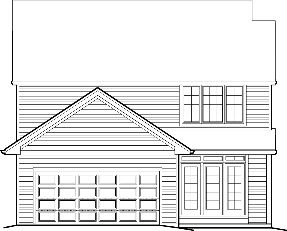 Rear Entry Garage And Two Exterior Choices 69204am 2nd