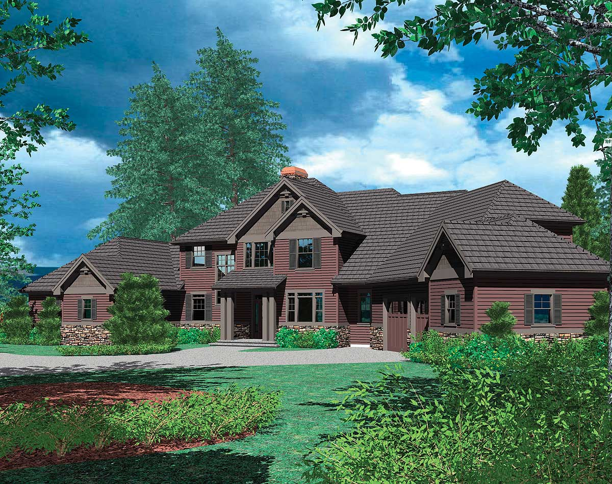 Two Story Plan With In Law Suite 69238am Architectural