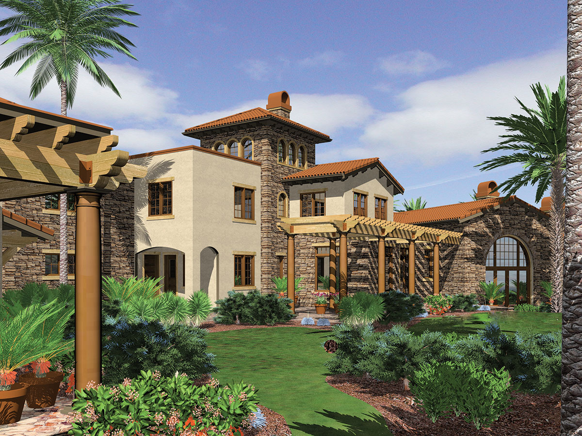 Five bedroom luxury with guest house 69242am 1st floor for Southwest house designs
