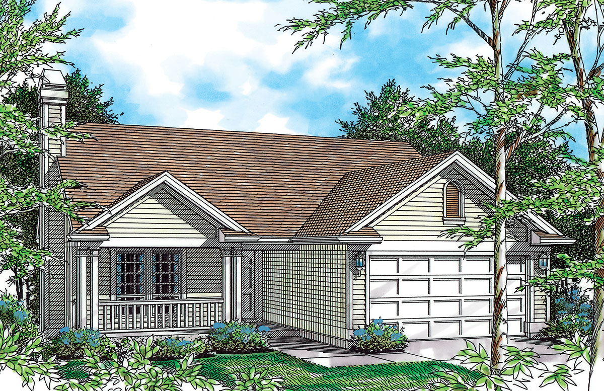 Charming Plan With Covered Porch - 69250AM
