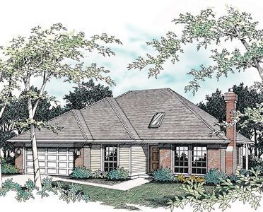 Single Story Plan with Hipped Roof 69254AM Architectural Designs