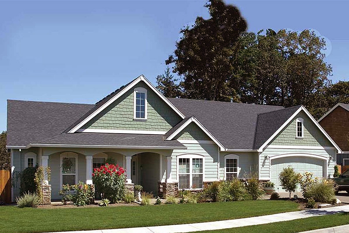 Three Bedrooms Plus a Den 6927AM Architectural Designs House