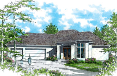 Contemporary Plan with Master Suite - 69271AM thumb - 02