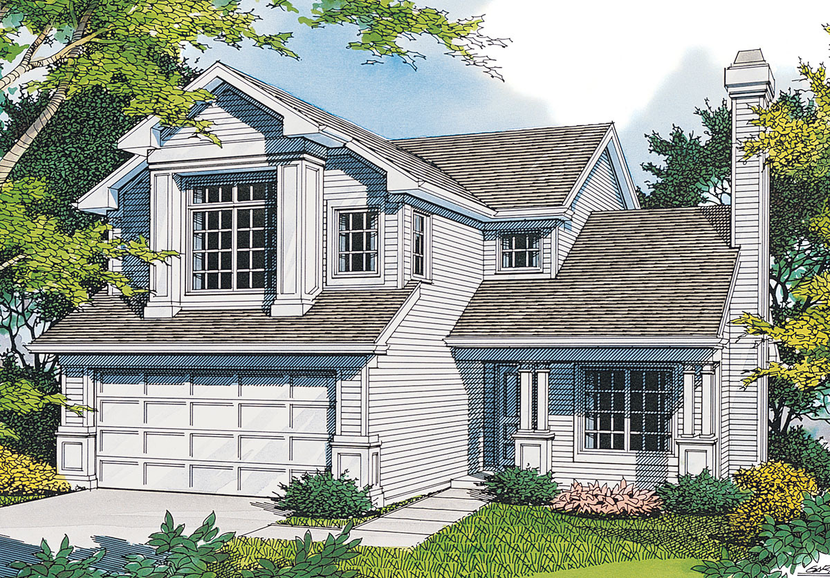 Small family home with luxurious master 69276am for Three family house plans