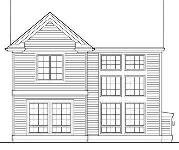Narrow Three Bedroom Colonial Plan - 69285AM thumb - 02