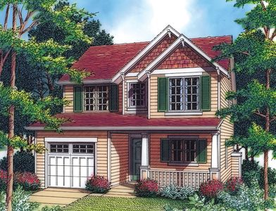 Narrow Craftsman with Vaulted Ceilings - 69292AM thumb - 01