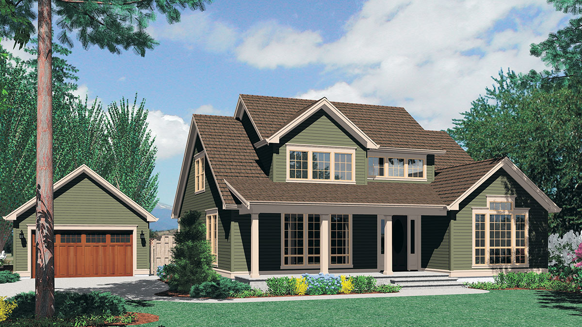 traditional plan with corner fireplace 69316am architectural