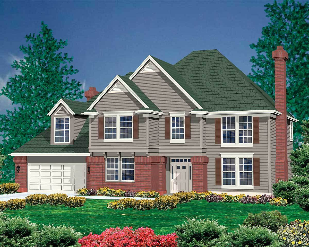 Spacious house plan with tray ceilings 69341am for Spacious house plans