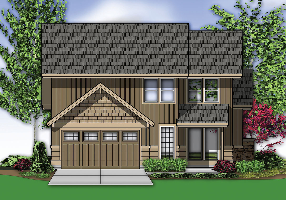 Two story vaulted great room 69435am 1st floor master for 2 story great room house plans