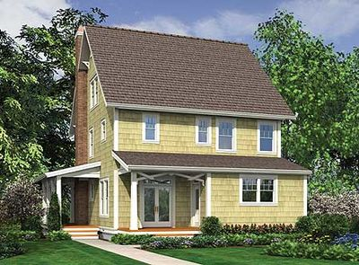 Narrow Lot Country Home Plan - 69443AM thumb - 02