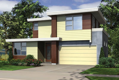 Stunning Contemporary Home Plan with Photos - 69446AM thumb - 28
