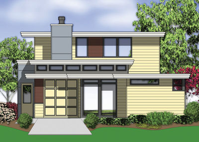 Stunning Contemporary Home Plan with Photos - 69446AM thumb - 29