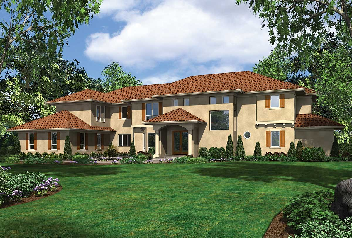 Spanish colonial dream home plna 69459am architectural for Dream home plans