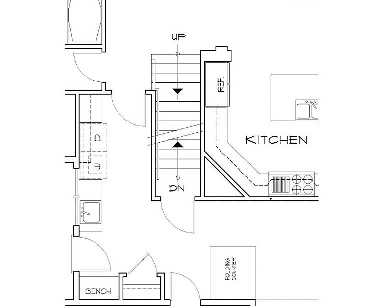 Energy-Efficient French Country Design - 69460AM floor plan - Basement stair location