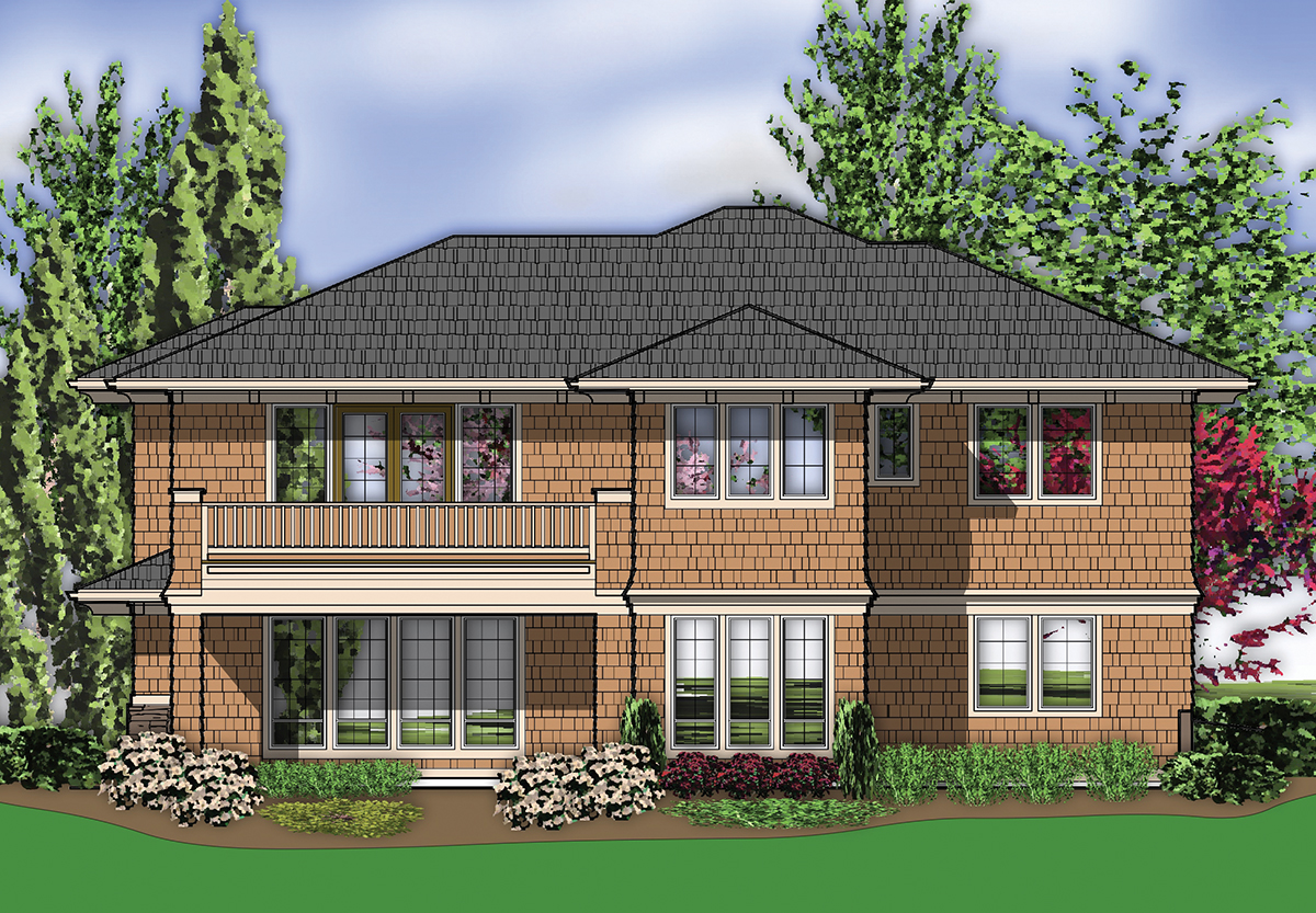 Luxurious prairie style 69461am 2nd floor master suite Prairie style house plans luxury