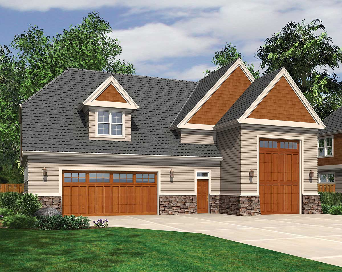 Perfect for rv 69466am architectural designs house plans for Rv cottage plans