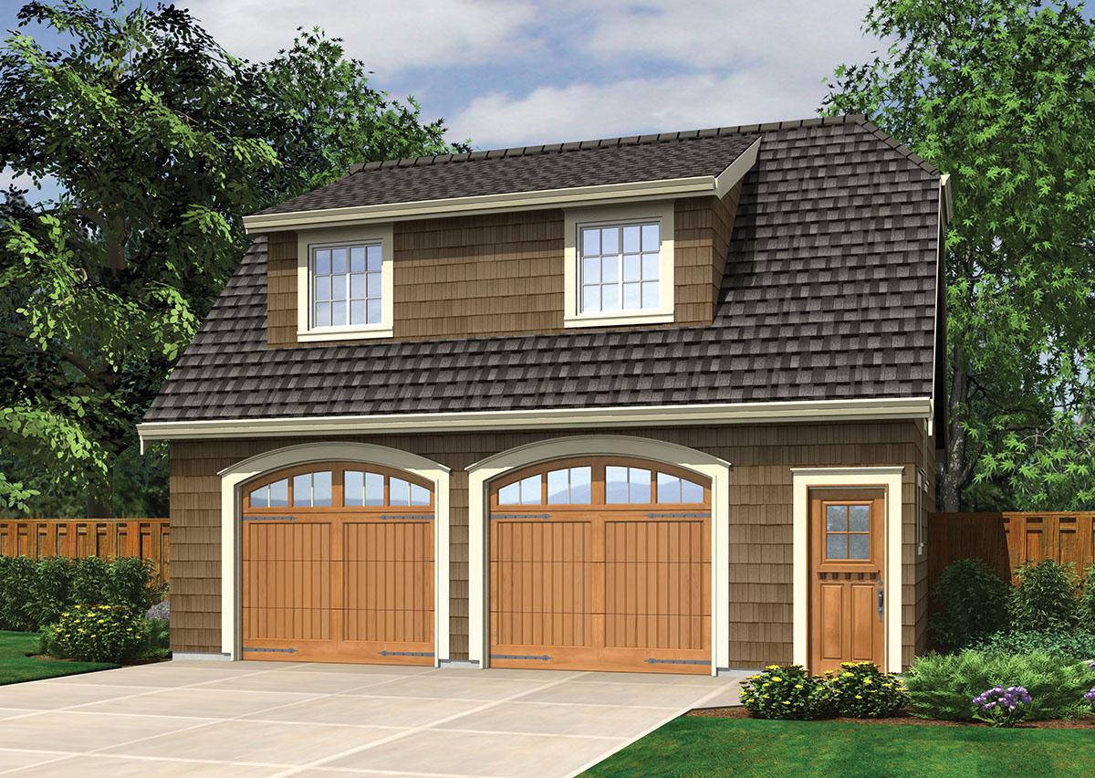 Garage studio with shed dormer 69472am 2nd floor for Garage plans pdf