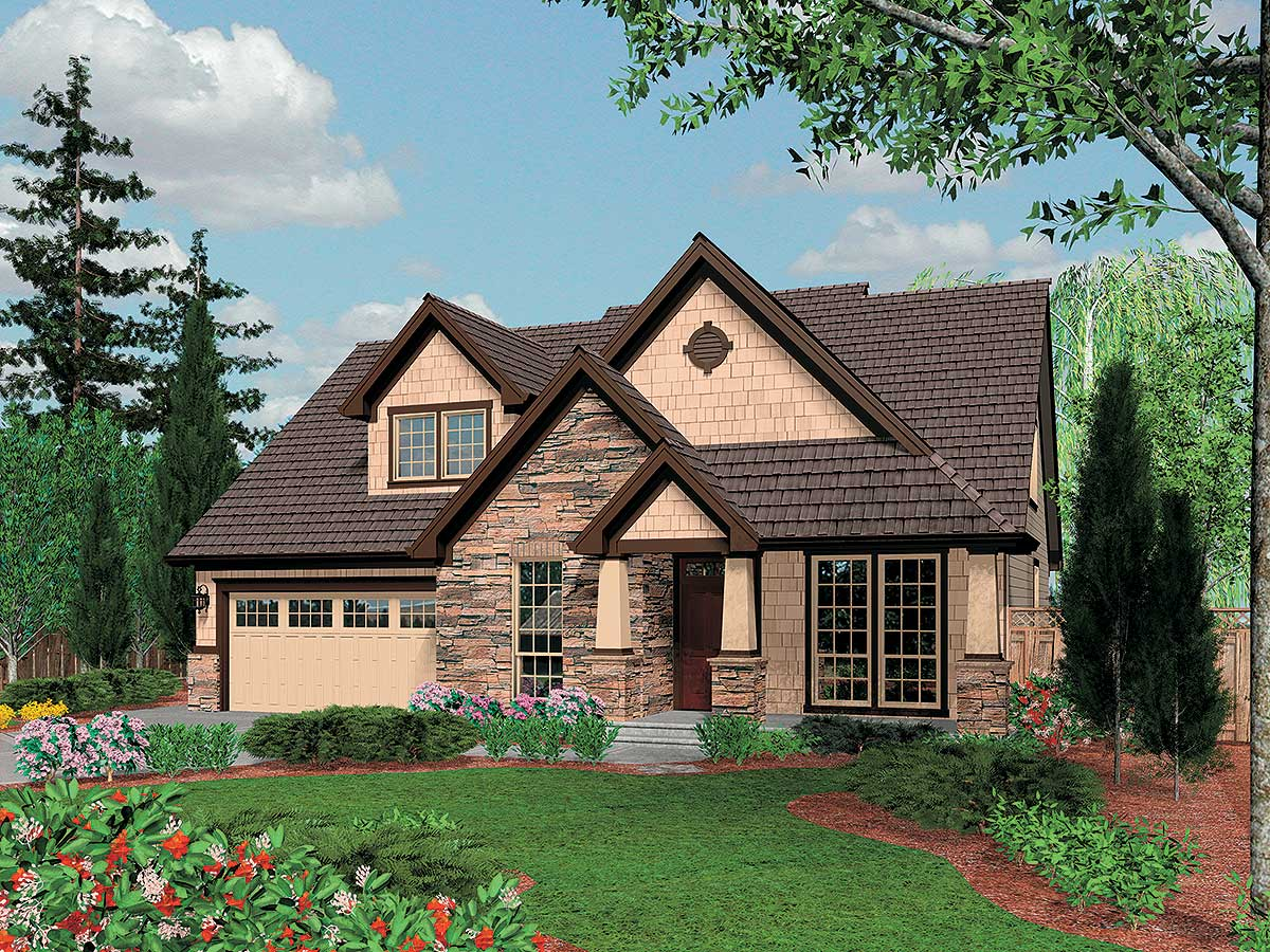 Charming craftsman home plan 6950am 1st floor master for Craftsman cottage plans