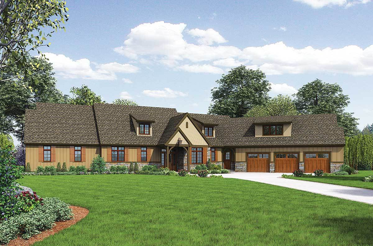 mountain home plan ideal for acreage 69511am