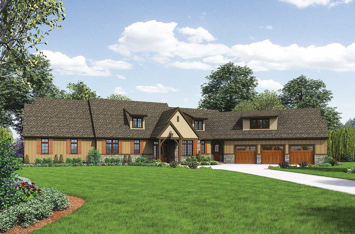 Mountain Home Plan Ideal For Acreage 69511am 1st Floor