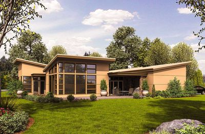 Angular Contemporary with Courtyard - 69512AM thumb - 03