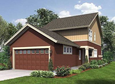 Narrow home plan with rear garage 69518am for Narrow house plans with garage in back