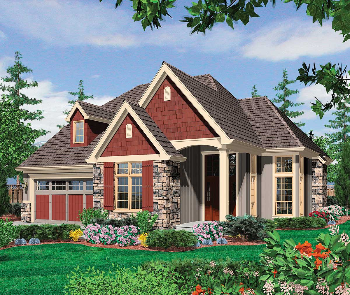Two story home with open living area 6952am 1st floor for House plans with 2 story library