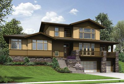 Craftsman for Uphill Sloping Lot - 69520AM | Architectural ... on Uphill Backyard Ideas id=93919