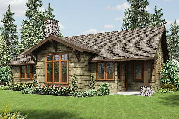 Rustic craftsman home plan 69521am 1st floor master Rustic architecture house plans