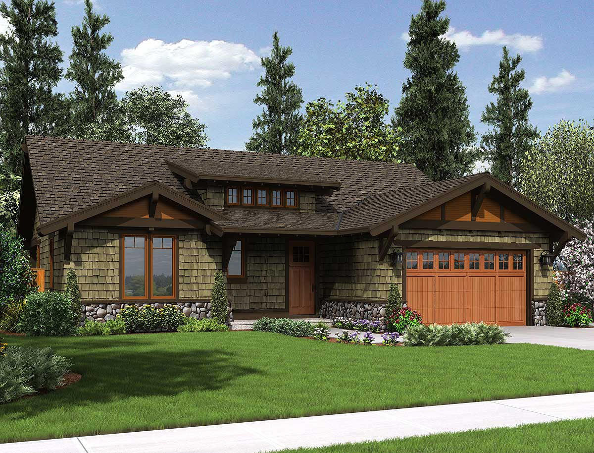 Rustic craftsman home plan 69521am 1st floor master for Rustic craftsman house plans