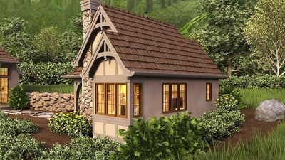 whimsical cottage house plan 69531am architectural