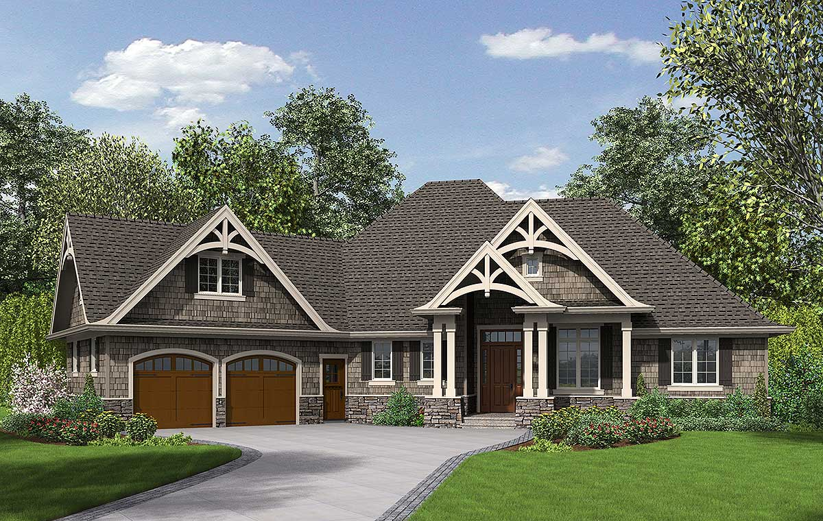 3 Bedroom Craftsman Home Plan