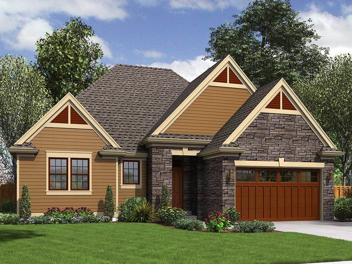 2 or 3 bedroom ranch with character 69539am for Small house plans with character