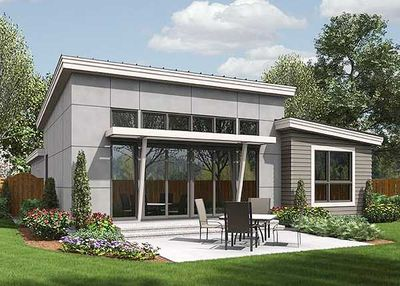 One Story Contemporary For A Small Lot 69547AM Architectural