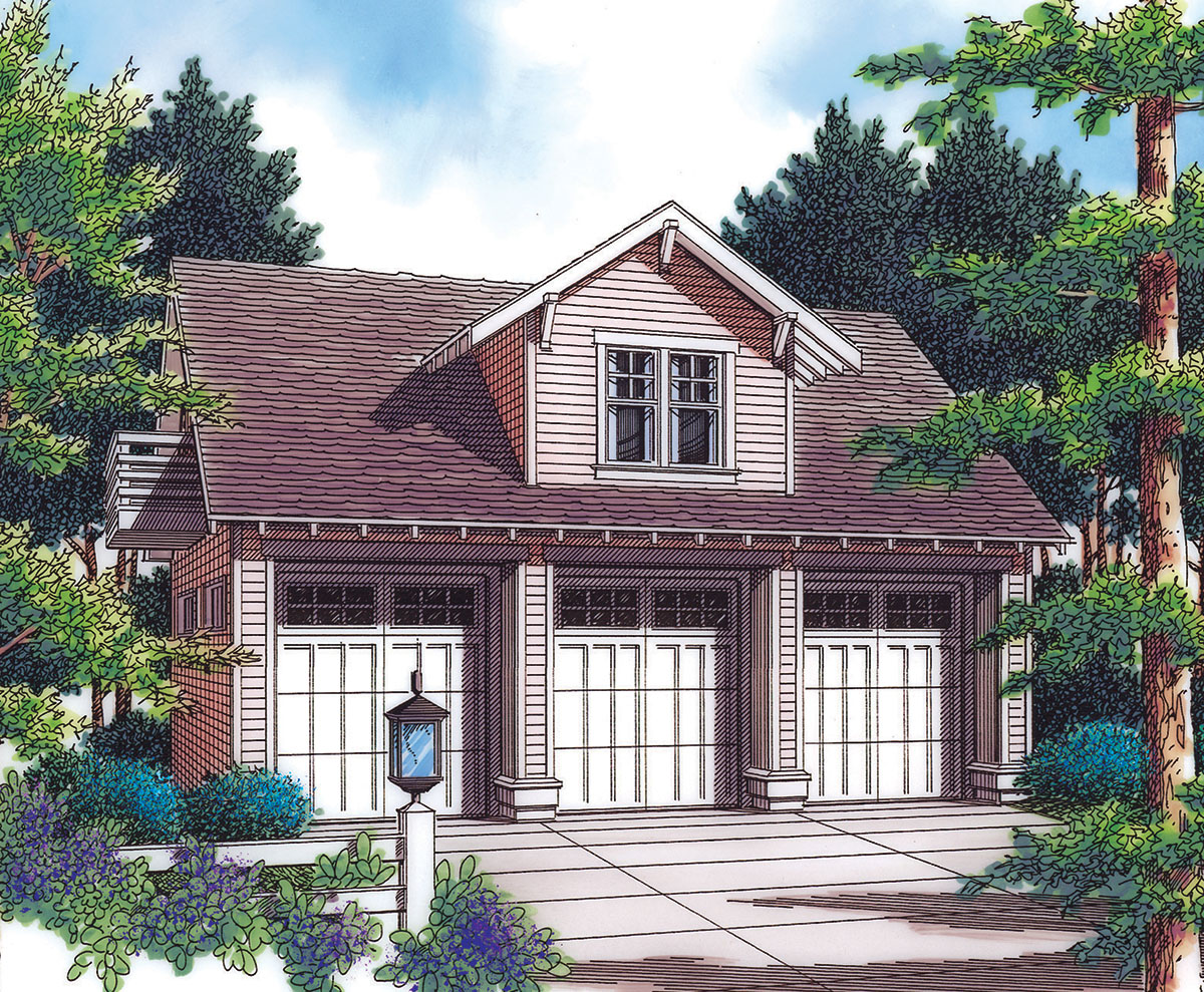Detached garage with guest house potential 69570am House plans with detached guest house