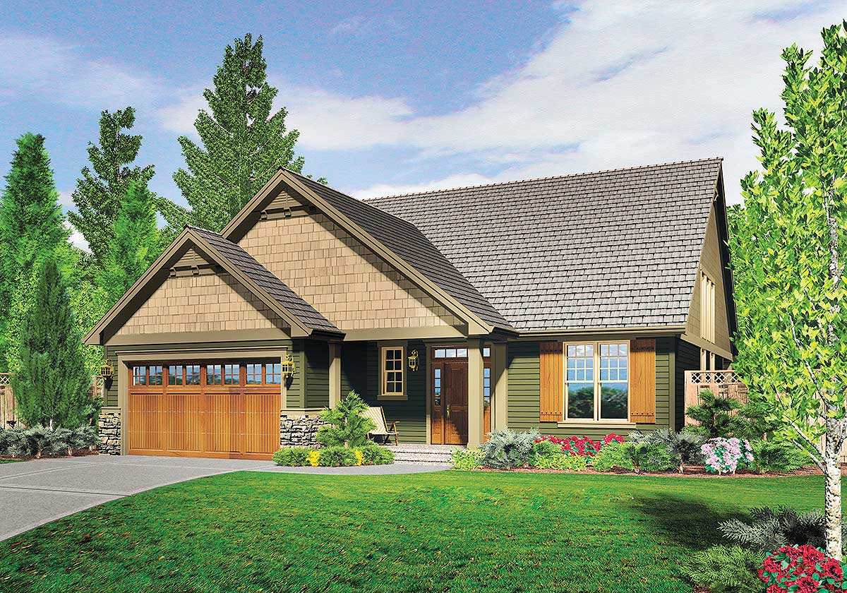 3 bedroom empty nester house plan 69573am