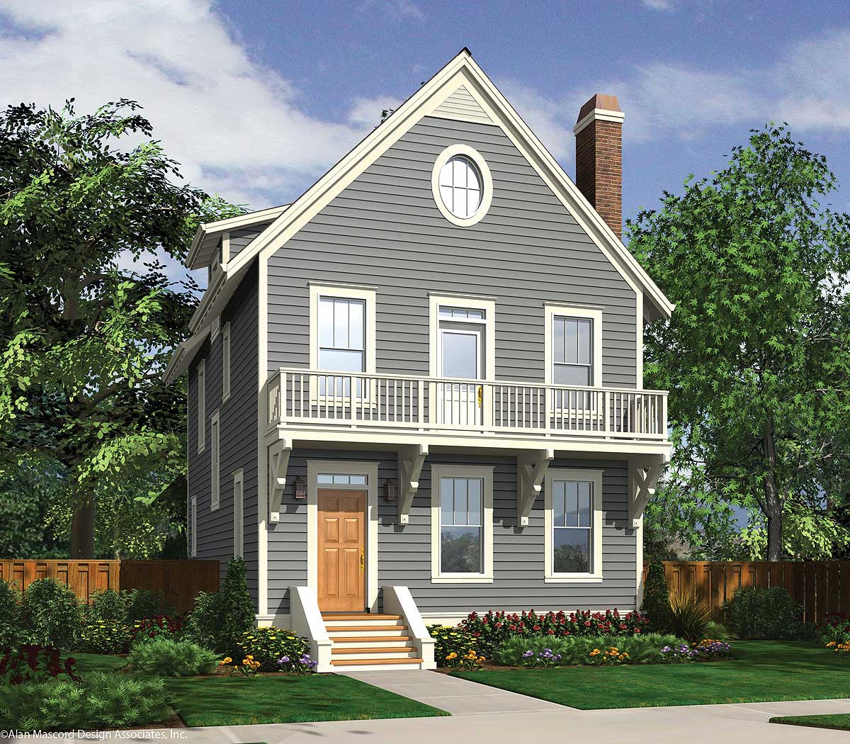 Picturesque 3 Story House Plan - 69591AM