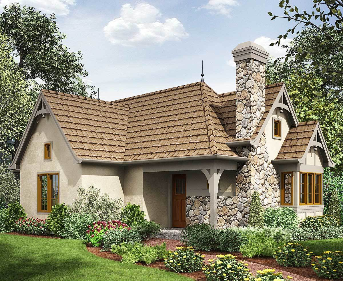 2 bed tiny cottage house plan 69593am 1st floor master for European bungalow house plans