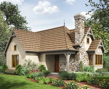 2 Bed Tiny Cottage House Plan   69593AM Thumb   01