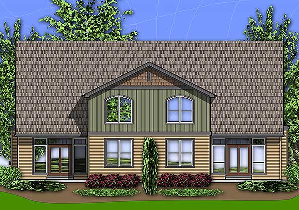 Craftsman Duplex 69596am 2nd Floor Master Suite Cad