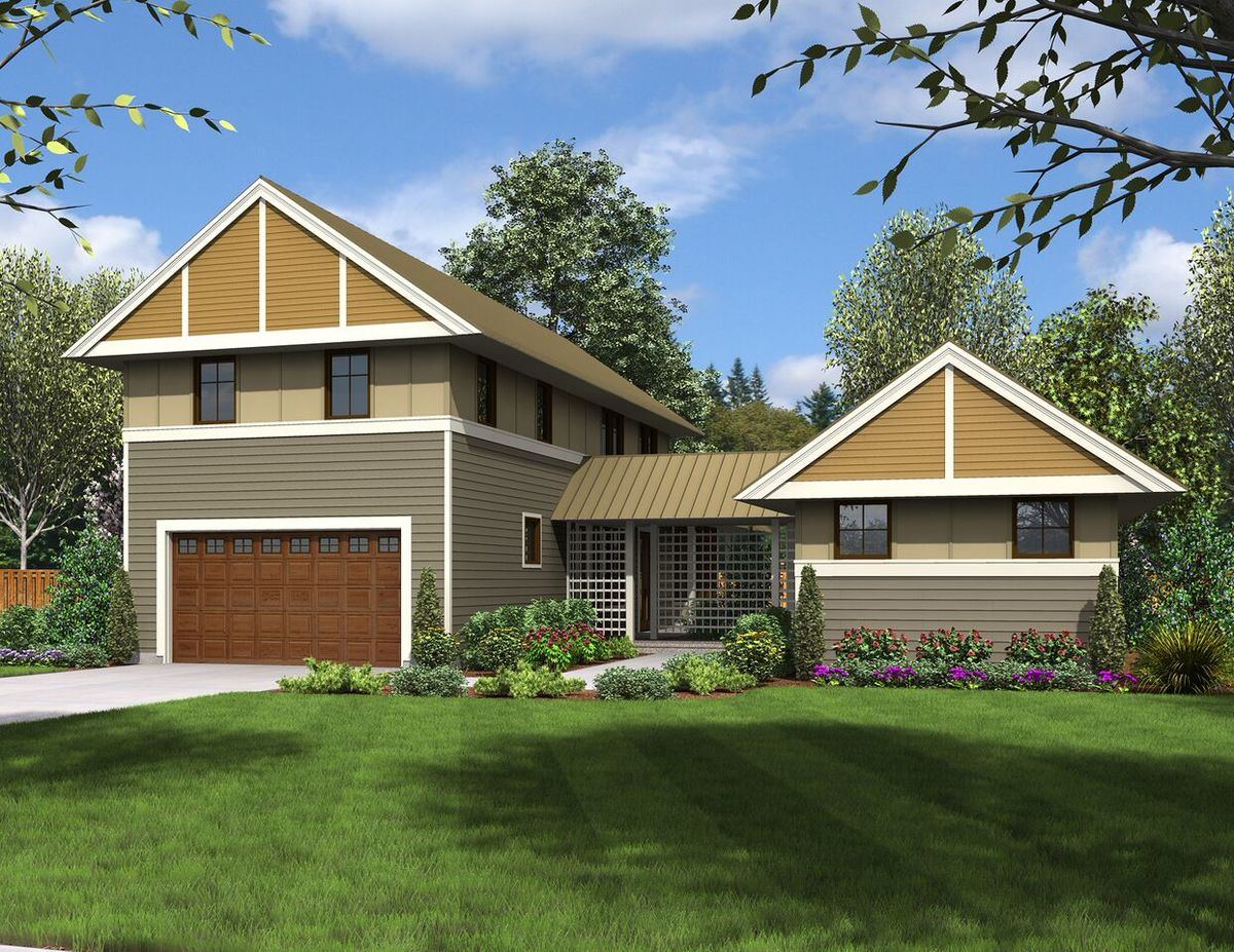 Unique dog trot house plan 69609am architectural for Special house plans