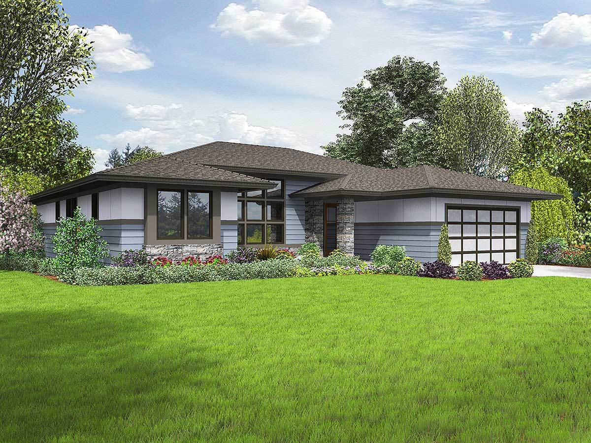 Flexible 3 bed prarie style house plan 69614am for Flexible house plans