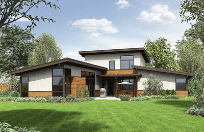 Modern Master Up House Plan 69615am Architectural