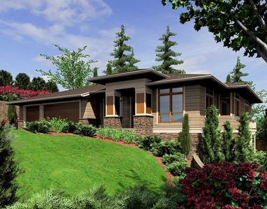 modern prairie-style home plan - 6966am | architectural designs