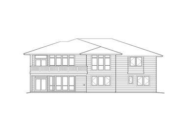 Modern Prairie-Style Home Plan - 6966AM thumb - 13