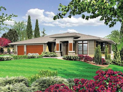 Modern Prairie-Style Home Plan - 6966AM thumb - 11