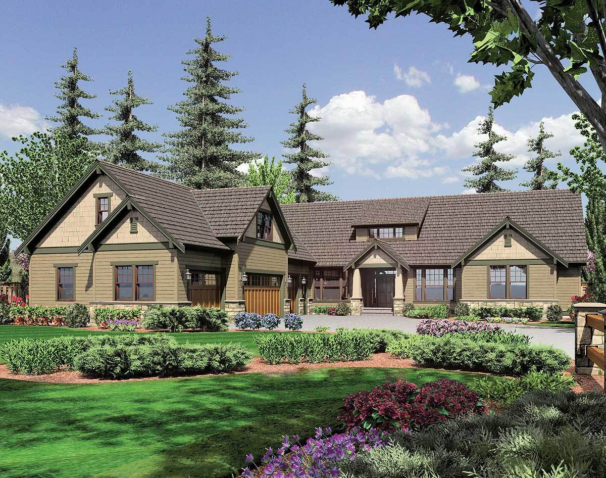 Lodge style retreat 6975am architectural designs for Lodge style home plans